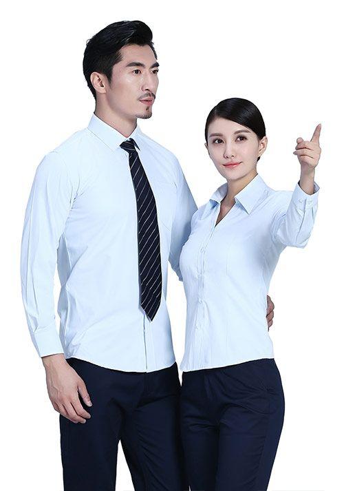 浅蓝职业衬衫